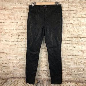 NYDJ black Coated Jacquard embossed Leggings 10